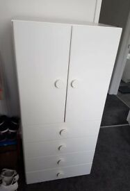 Childrens wardrobe and drawers