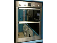 a722 stainless steel & mirror finish bosch double integrated electric oven comes with warranty