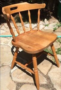 One Hardwood Windsor Chair