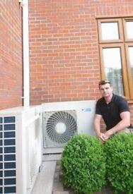 Air conditioning heating Vaillant boiler hot water under floor heating west London Ruislip