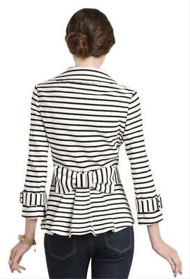Kate Spade Nautical Striped Blazer Jacket Bow Back Size S