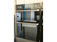Bo21 mirrored finish beko integrated double electric oven comes with warranty can be delivered