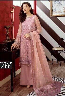 Chiffon Party Wear 3PC Set Salwar Kameez Dupatta Size S 38 Suit Pakistani (Chiffon Salwar Suit)