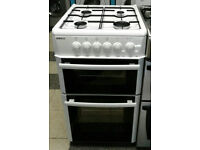 a690 white beko 50cm gas cooker comes with warranty can be delivered or collected