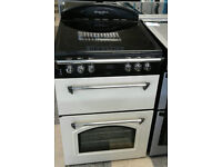 a709 cream leisure gourmet 60cm double oven ceramic hob electric cooker comes with warranty