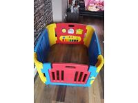 Plastic Playpen with Activity Panel