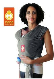 Hana Wrap Baby Carrier in olive grey