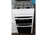 C199 white beko 50cm gas cooker comes with warranty can be delivered or collected