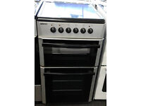 h022 silver beko 50cm ceramic hob electric cooker comes with warranty can be delivered or collected