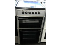 a022 silver beko 50cm ceramic hob electric cooker comes with warranty can be delivered or collected