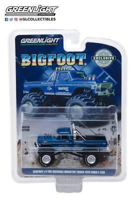 Greenlight Bigfoot The Original Monster Truck 1974 Ford F-250 Blue 29934 1/64