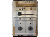 Wooden Cabinet Hand Painted in ANNIE SLOAN Old White Chalk Paint.