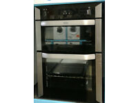 X251 stainless steel & black belling built in double integrated gas oven comes with warranty