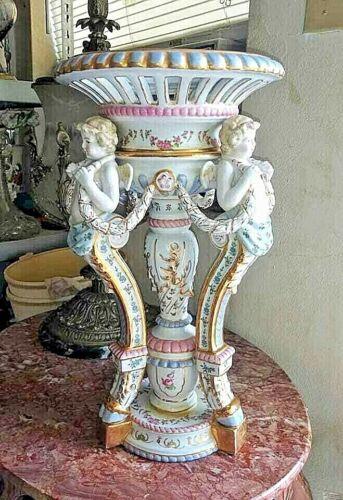 Vintage Huge Continental Porcelain Centerpiece.