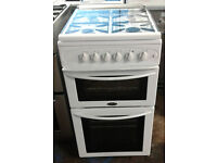 a115 white belling 50cm gas cooker comes with warranty can be delivered or collected