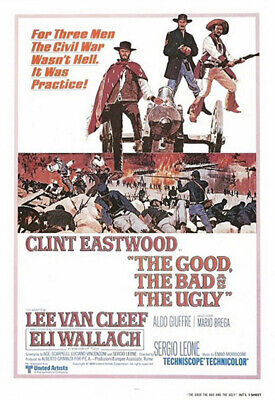 The Good, the Bad, and the Ugly (1967) Movie Poster, Reproduction, SS,