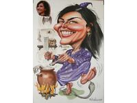 Caricature artist available for events, weddings, birthday parties and private commissions