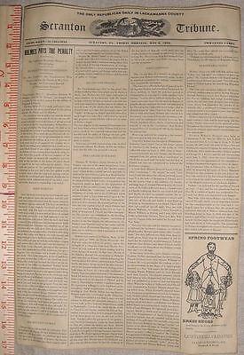 H H Holmes Hanged  Newspaper Mockup  V1  Scranton Tribune  Murder Castle
