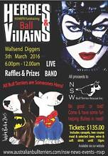 HEROES and VILLAINS CHARITY BALL Supports NSW Bull Terrier Rescue Wallsend Newcastle Area Preview