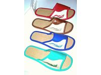New Women and Men Natural Leather Slippers