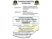 Fenstanton Football Club Car Boot Sale
