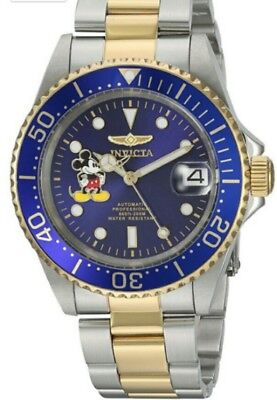 NWT DISNEY Mickey Mouse Limited Ed INVICTA Automatic watch Japan mvmt MSRP $695