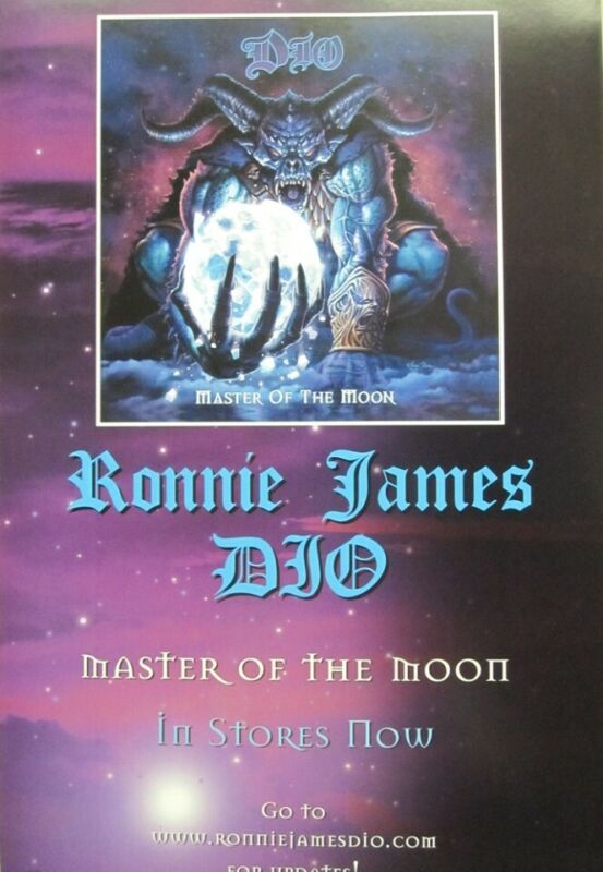 Ronnie James DIO 2004 Master Of The Moon promo poster Flawless New Old Stock