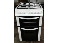 E439 white logik 50cm gas cooker comes with warranty can be delivered or collected