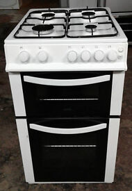 I439 white logik 50cm gas cooker comes with warranty can be delivered or collected