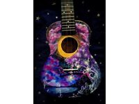 Concert Ukulele, Painted by an Artist, New Instrument, High Quality