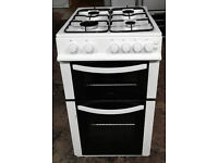 b439 white logik 50cm gas cooker comes with warranty can be delivered or collected