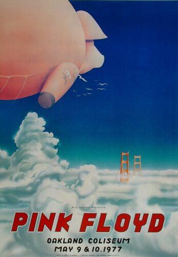 Pink Floyd 1977 Oakland Coliseum Arena Concert Poster LIMITED