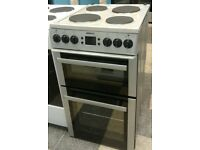 693 silver beko 50cm double oven solid ring electric cooker with warranty can be delivered
