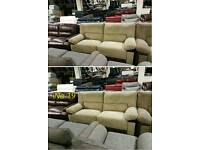 Brown 2 x 3 seater sofa recliner