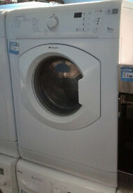 F566 white hotpoint 7.5kg vented dryer comes with warranty can be delivered or collected
