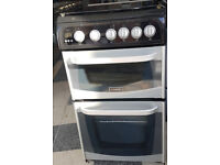 y477 black & silver cannon 50cm gas cooker comes with warranty can be delivered or collected