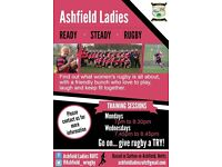 Ashfield Ladies RUFC, North Nottinghamshire Ladies Rugby Club welcome new players