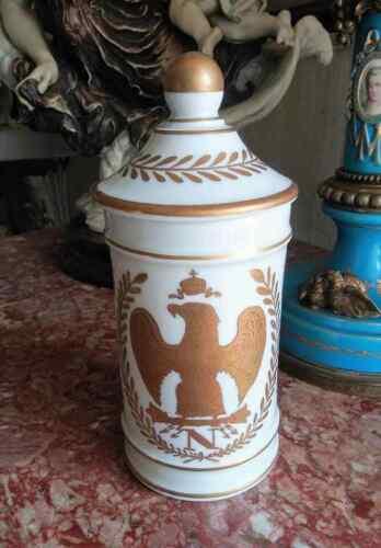 Antique Perfumery French Napoleonic Porcelain Lidded Jar, 1815.