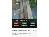Rail way sleepers collection only