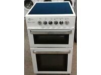 h070 white flavel 50cm ceramic hob electric cooker comes with warranty can be delivered or collected