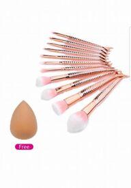 Rainbow makeup brushes 10pcs