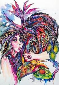 "Original Water Colour/Acrylic "" EMBRACE IT  ""  Artist Elisa Steel Reedy Creek Gold Coast South Preview"