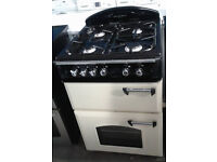 b741 cream leisure gourmet 60cm double oven gas cooker comes with warranty can be delivered