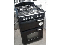 a137 black leisure 60cm double oven gas cooker comes with warranty can be delivered or collected