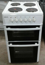 a153 white beko 50cm solid ring electric cooker comes with warranty can be delivered or collected