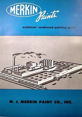 (Merkin Paints ASBESTOS Asphalt Roof Coating Catalog 1957)