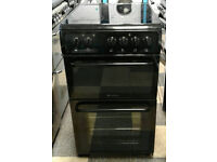 a085 black hotpoint 50cm ceramic hob electric cooker comes with warranty can be delivered