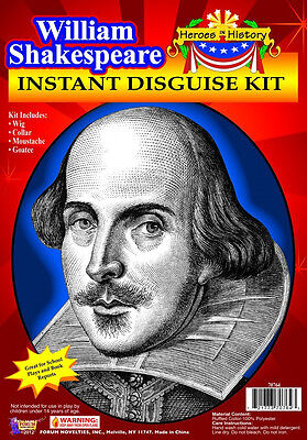 William Shakespeare Kit Author Poet Fancy Dress Up Halloween Costume Accessory - Shakespeare Halloween Costume
