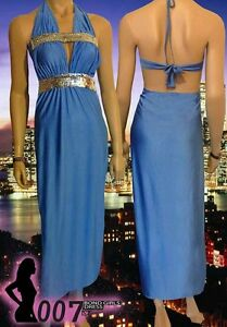 STUNNING 007 Sexy Bond Girl 'Diamante' Diva Look Evening Dress ~ New
