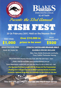 Fishfest 2017 Penrith Penrith Area Preview